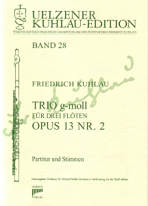 Syrinx Nr. 154 Friedrich Kuhlau Trio g-moll für drei Flöten op. 13 Nr. 2 3 Flöten