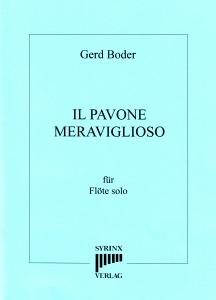 Syrinx Nr. 158 Gerd Boder Il Pavone meraviglioso op.20