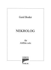 Syrinx Nr. 160 Gerd Boder Nekrolog op.56b