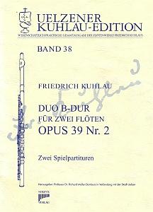 Syrinx Nr. 178 Friedrich Kuhlau Duo B-Dur op.39,2 2 Flöten