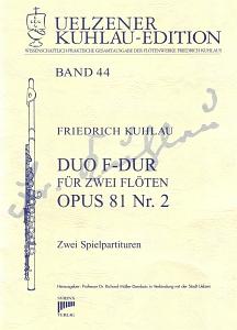 Syrinx Nr. 186 Friedrich Kuhlau Duo F-Dur op.81,2 2 Flöten