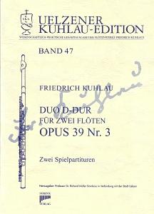 Syrinx Nr. 189 Friedrich Kuhlau Duo D-Dur op.39,3 2 Flöten