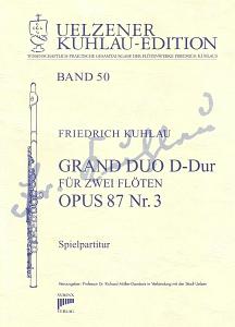 Syrinx Nr. 193 Friedrich Kuhlau Grand Duo D-Dur op.87,3 2 Flöten