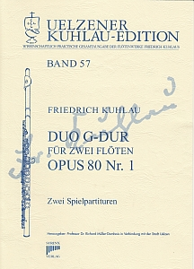 Syrinx Nr. 202 Friedrich Kuhlau Duo G-Dur op.80,1 2 Flöten