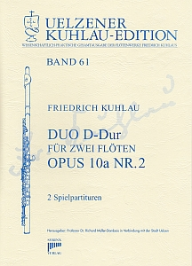Syrinx Nr. 207 Friedrich Kuhlau Duo D-Dur op.10a,2 2 Flöten