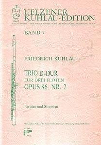 Syrinx Nr. 115 Friedrich Kuhlau Trio D-Dur für drei Flöten op. 86 Nr. 2 3 Flöten