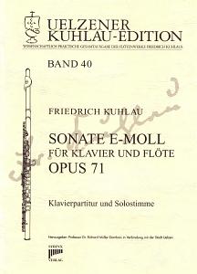 Syrinx Nr. 181 Kuhlau Sonate e-moll für Klavier und Flöte op. 71
