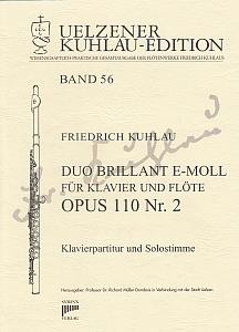 Syrinx Nr. 201 Friedrich Kuhlau Duo Brillant e-moll für Klavier und Flöte op. 110 Nr. 2
