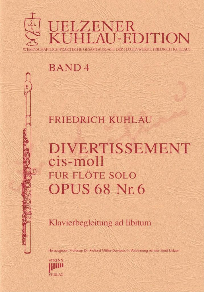 Syrinx Nr. 107 Friedrich Kuhlau Divertissement cis-moll op.68 Nr. 6 Flöte solo
