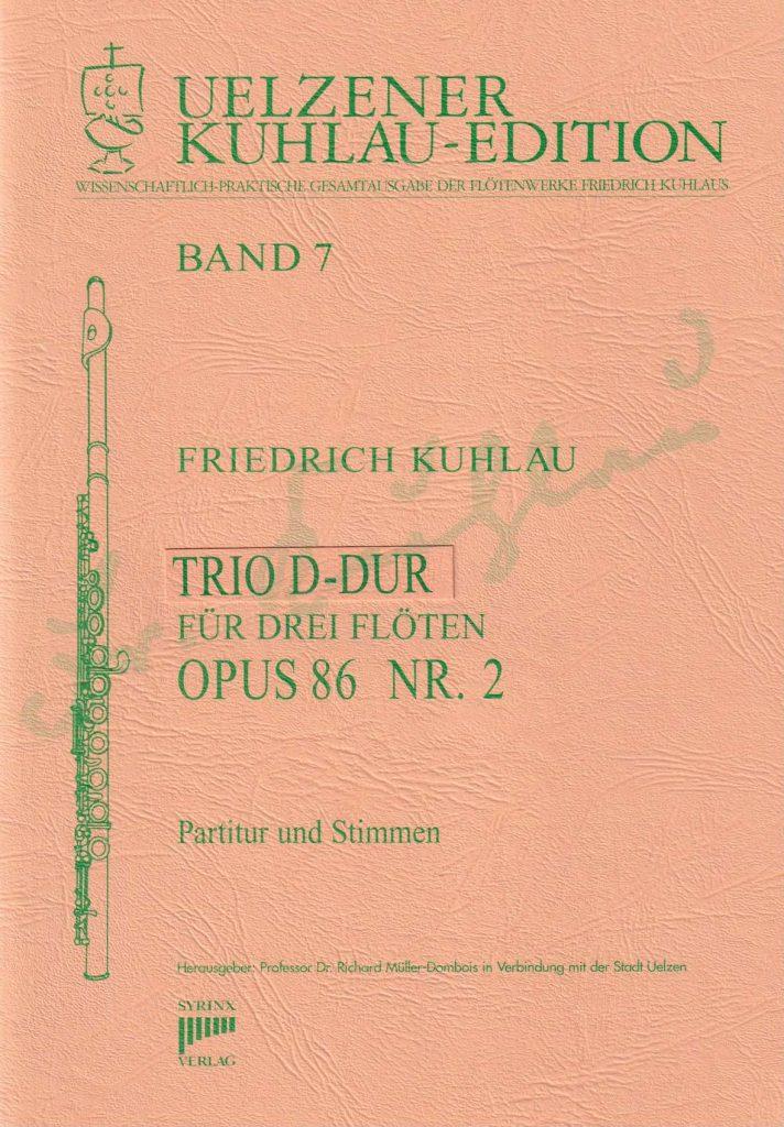 Syrinx Nr. 115 Trio D-Dur op. 86 Nr. 2 Kuhlau
