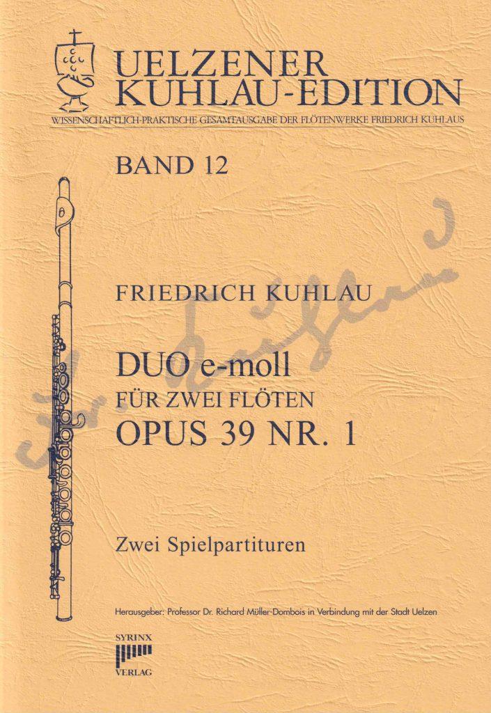 Syrinx Nr. 128 Friedrich Kuhlau Duo e-moll opus 39 Nr. 1