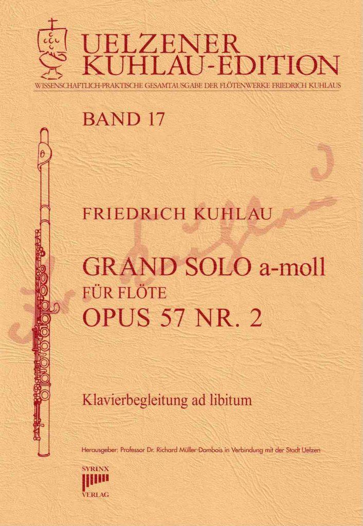 Syrinx Nr. 140 Friedrich Kuhlau Grand Solo a-moll Op. 57 Nr. 2