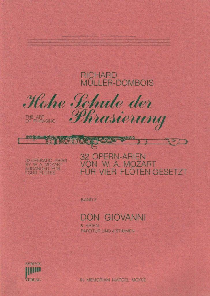 Syrinx Nr. 17 / Hohe Schule der Phrasierung Band II Don Giovanni (4Flöten)